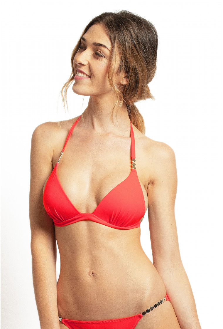PAIN DE SUCRE, Bikini triangle, Red Coral – Elan